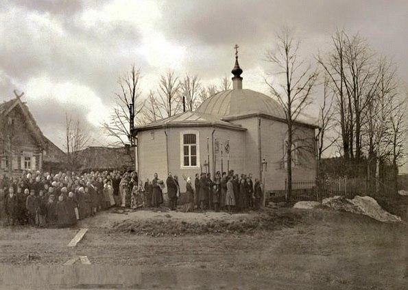 Так выглядел разрушенный храм в Путилово